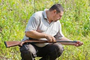 clay pigeon shooting - gun care