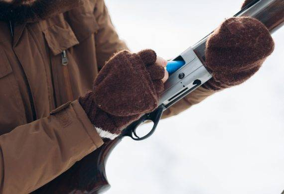 clay pigeon shooting - winter