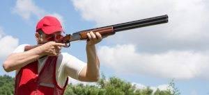 skeet clay pigeon shooting